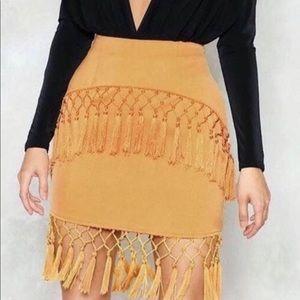 Nasty Gal Diffuse Tassel Skirt